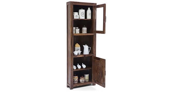 Murano Two-Door Corner Cabinet (Mahogany Finish) by Urban Ladder
