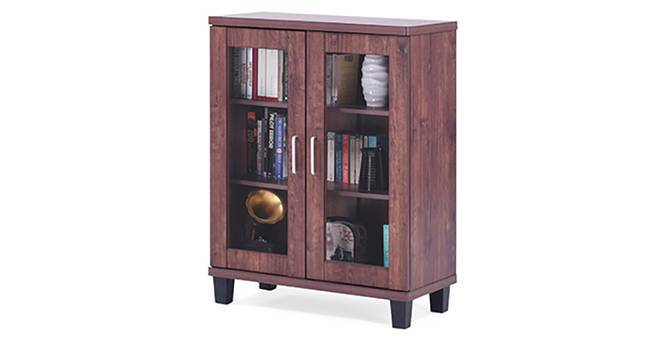 Portland Low Display Cabinet With 2 Door 45 Book Capacity