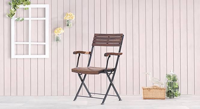 Masai Arm Chair (Teak Finish) by Urban Ladder