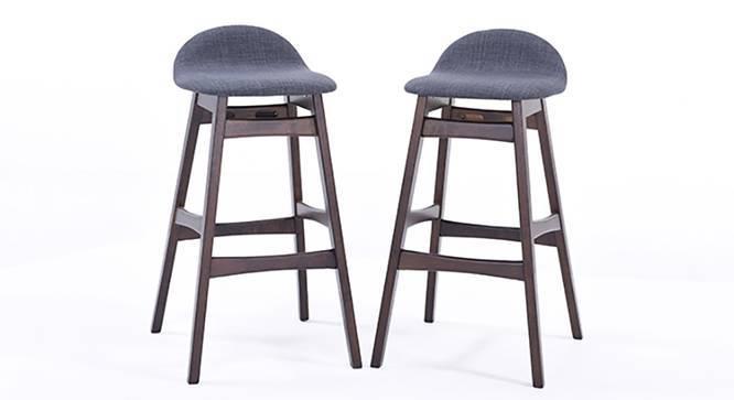 Beke Bar Stools - Set of 2 (Dark Walnut Finish) by Urban Ladder