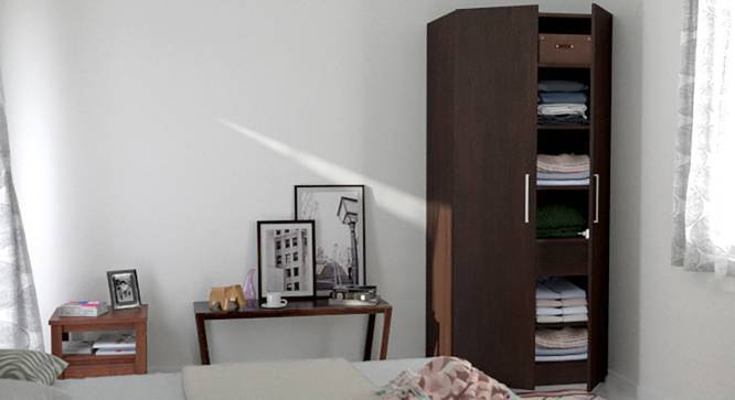 Domenico XL Wardrobe (Two Door, Without Mirror Configuration) by Urban Ladder