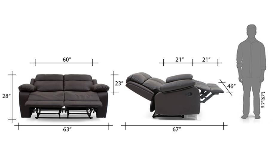 Robert recliner 2 seater chocolate brown 14 15