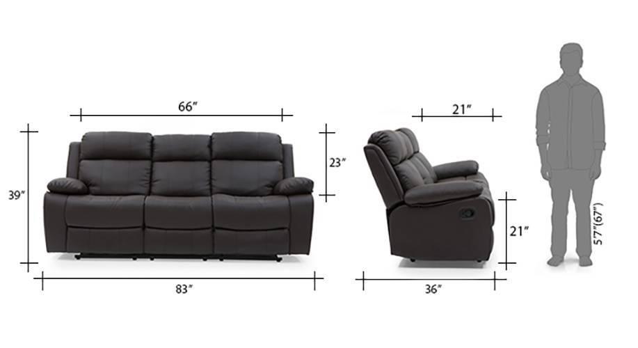 Robert recliner 3 seater chocolate brown 13 14