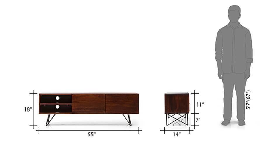 Dyson tv unit walnut 10 11