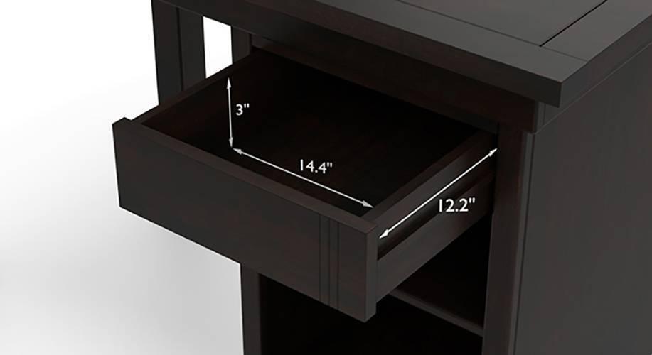 Bradbury compact desk mahogany 06 7