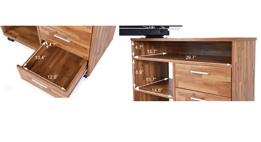 Niccol adjustable study table golden oak 14 15