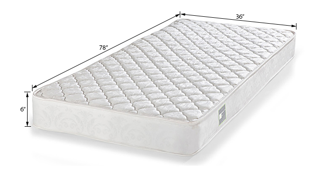 DreamLite Mattress (Single Mattress Type, 78 x 36 in Mattress Size, 6 in Mattress Thickness (in Inches)) by Urban Ladder