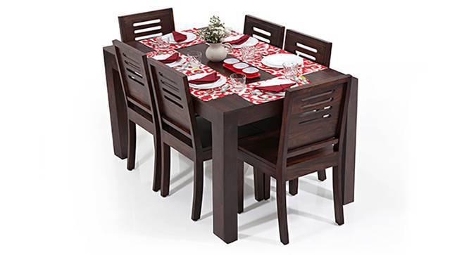 Arabia - Capra 6 Seater Dining Table Set (Mahogany Finish) by Urban Ladder