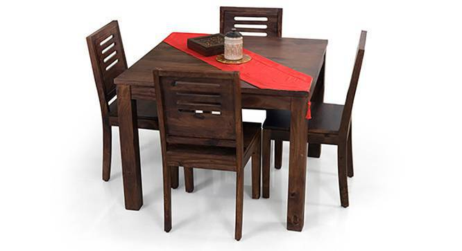 Arabia Square - Capra 4 Seater Dining Table Set (Mahogany Finish) by Urban Ladder