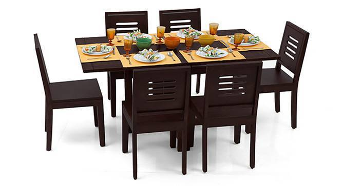 Danton 3 To 6 Capra 6 Seat Folding Dining Table Set Urban Ladder
