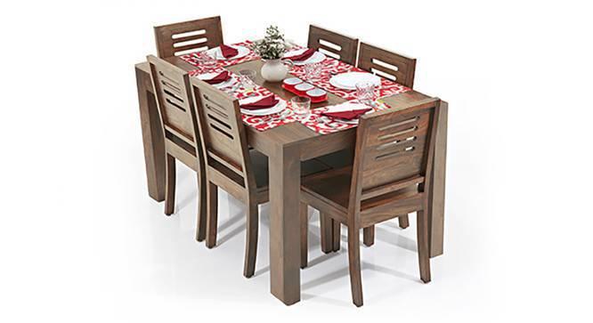 Arabia - Capra 6 Seater Dining Table Set (Teak Finish) by Urban Ladder