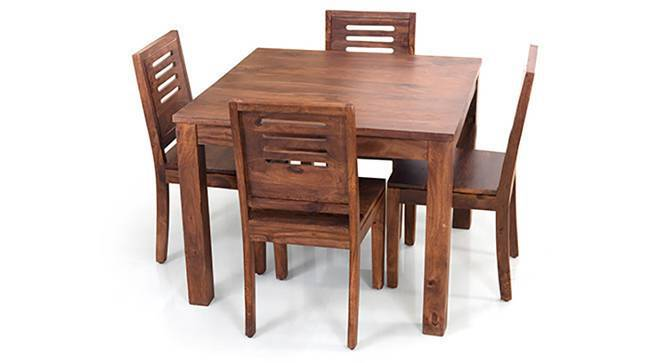 Arabia Square - Capra 4 Seater Dining Table Set (Teak Finish) by Urban Ladder
