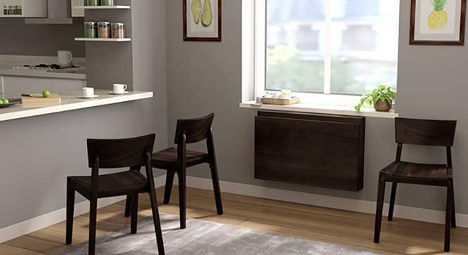 Blaine - Gordon 3 Seater Wall Mounted Dining Table Set (Mahogany Finish) by Urban Ladder