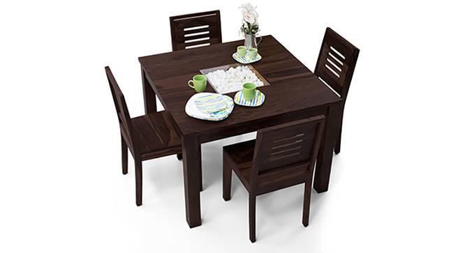 Brighton Square - Capra 4 Seater Dining Table Set (Mahogany Finish) by Urban Ladder
