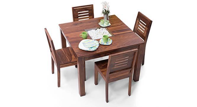 Brighton Square - Capra 4 Seater Dining Table Set (Teak Finish) by Urban Ladder
