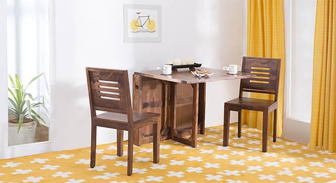 Danton 3-to-6 - Capra 2 Seater Folding Dining Table Set (Teak Finish) by Urban Ladder