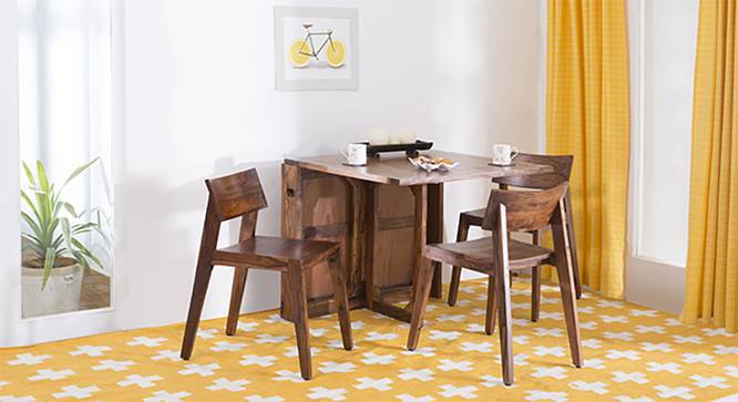 Danton 3-to-6 - Gordon 3 Seater Folding Dining Table Set (Teak Finish) by Urban Ladder