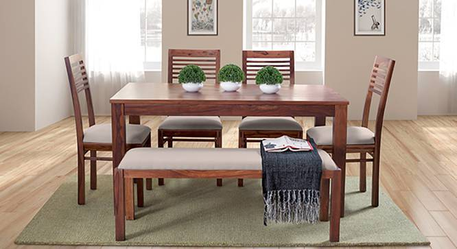 Arabia Zella 6 Seater Dining Table Set With Upholstered Bench