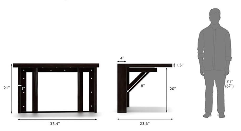 Blaine gordon 3 seater wall mounted dining table set 11