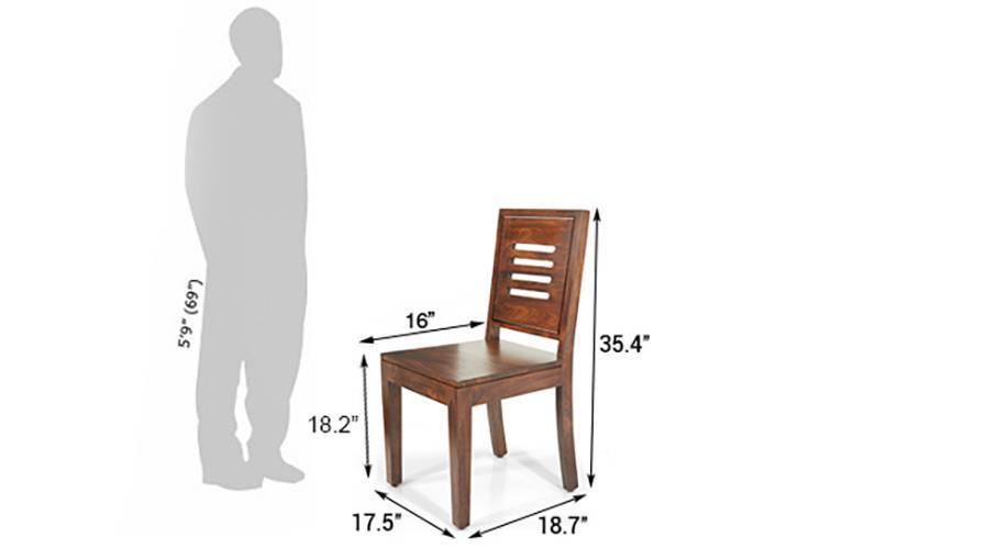 Capra dining chairs teak finish