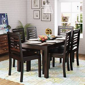 Arabia XL Storage - Capra 6 Seater Dining Table Set (Mahogany Finish) by Urban Ladder