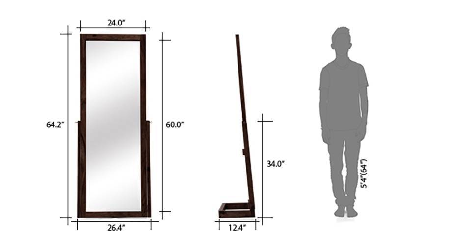 Sirius standing mirror mahogany 09