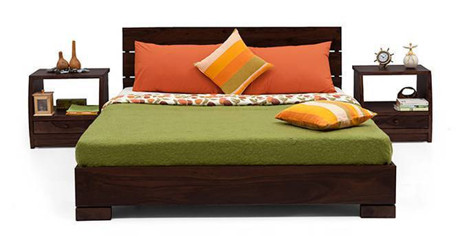 Ohio Bed (Mahogany Finish, Queen Bed Size) by Urban Ladder