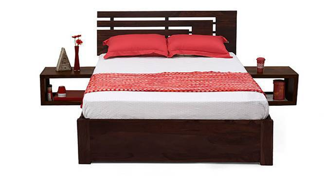 Stockholm Storage Essential Bedroom Set (Mahogany Finish) (Queen Bed Size) by Urban Ladder