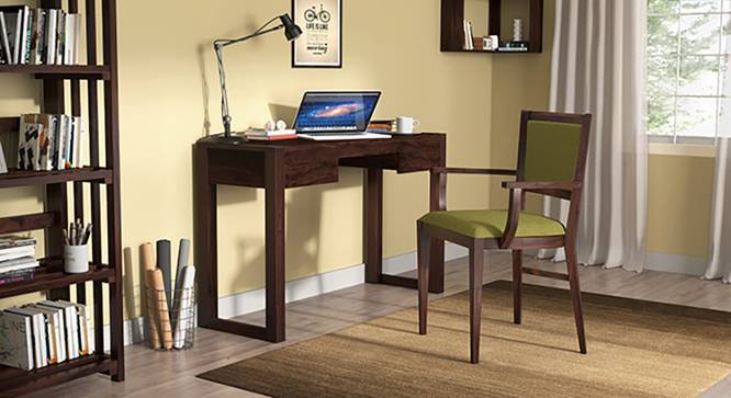 Austen Compact - Aurelio Study Sets (Mahogany Finish, Olive) by Urban Ladder