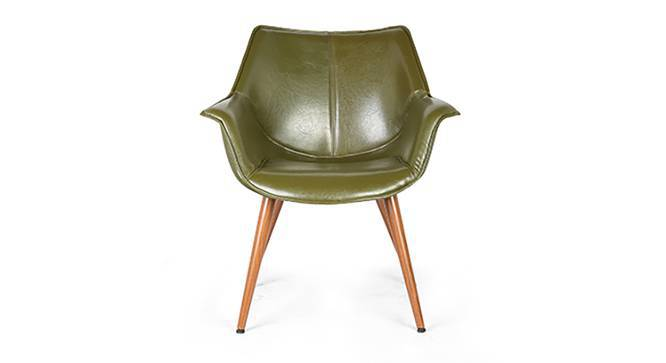 Keaton Lounge Chair (Olive Green) by Urban Ladder