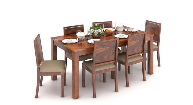 Arabia XL Storage - Oribi 6 Seater Dining Table Set (Teak Finish, Wheat Brown) by Urban Ladder