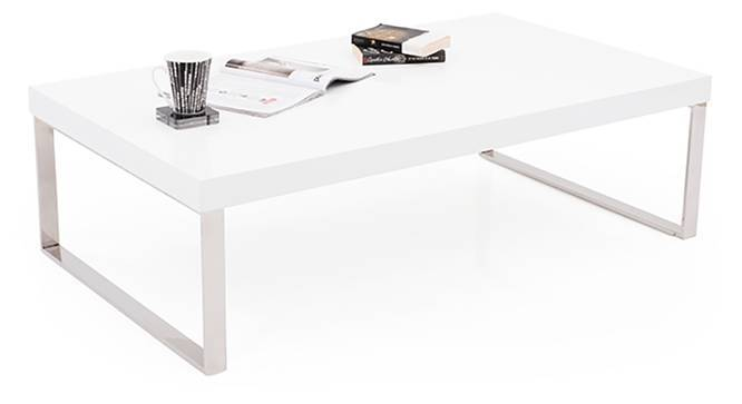 Marcel Coffee Table (White Gloss Finish, Large Size) by Urban Ladder