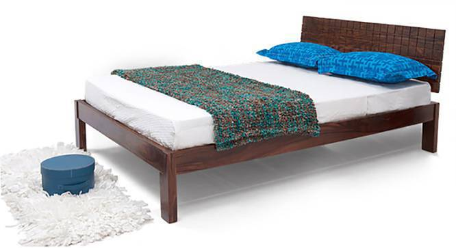 Valencia - Zephyr Compact Bedroom Set (Teak Finish, Queen Bed Size) by Urban Ladder