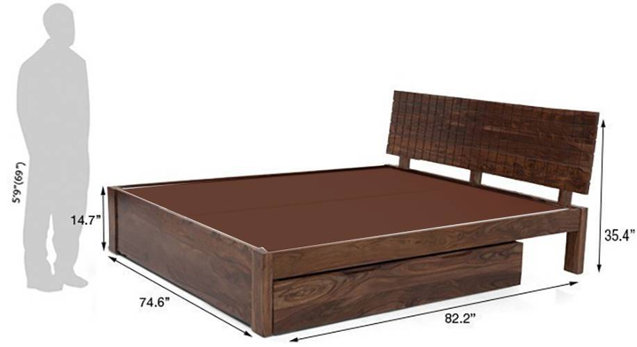 Valencia storage bed teak 04