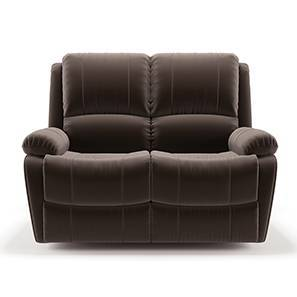 Tribbiani Two Seater Recliner Sofa (Carafe Brown Fabric) by Urban Ladder