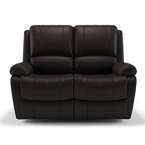 Tribbiani two seater recliner chocolate brown leatherette 00 lp