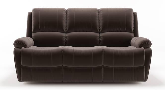 Tribbiani Three Seater Recliner Sofa Carafe Brown Fabric By Urban Ladder