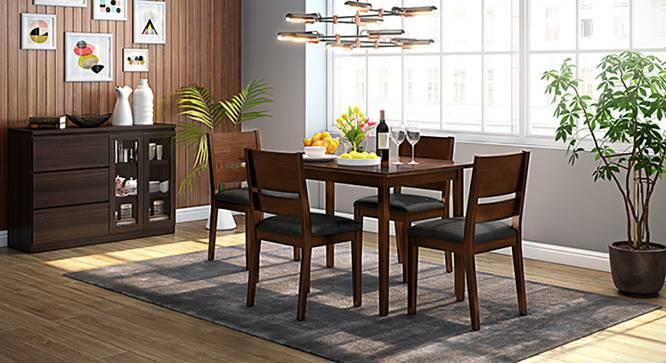 Cabalo (Leatherette) Dining Chairs - Set of 2 (Black, Dark Walnut Finish) by Urban Ladder
