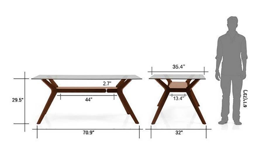 Wesley cabalo fabric 6 seater dining table set 15