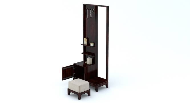 Magellan Dressing Table With Pouffe (Mahogany Finish) by Urban Ladder