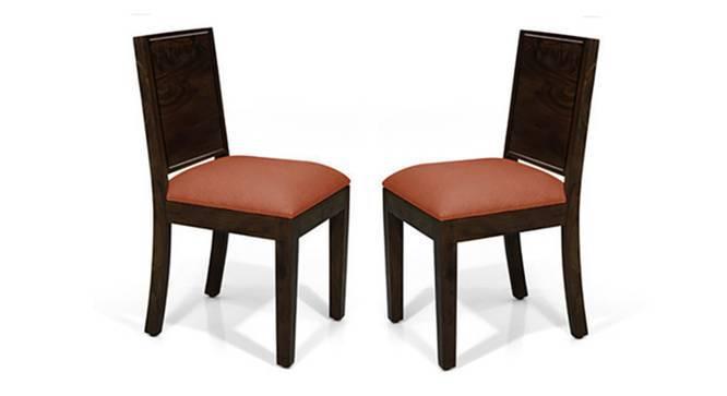 Oribi Dining Chairs - Set of 2 (Mahogany Finish, Burnt Orange) by Urban Ladder
