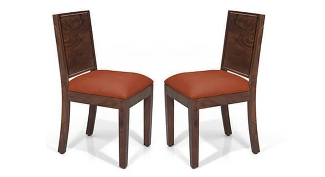 Oribi Dining Chairs - Set of 2 (Teak Finish, Burnt Orange) by Urban Ladder
