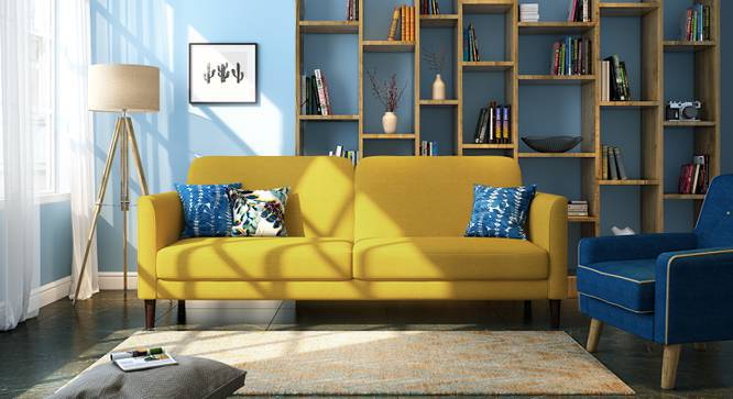 Felicity Sofa Cum Bed (Yellow) by Urban Ladder