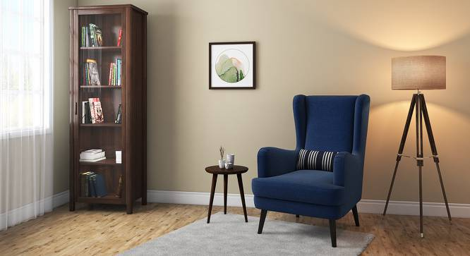 Genoa Wing Chair (Cobalt) by Urban Ladder