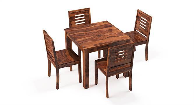 Arabia - Capra 4 Seater Storage Dining Table Set (Teak Finish) by Urban Ladder