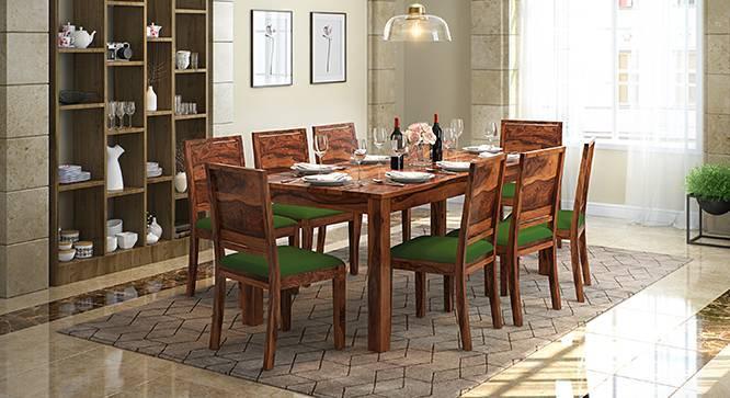 Arabia XXL - Oribi 8 Seater Dining Table Set (Teak Finish, Avocado Green) by Urban Ladder