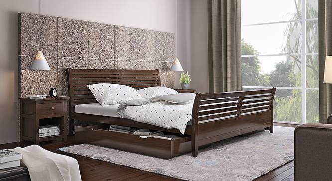 Vermont Storage Bed (Queen Bed Size, Dark Walnut Finish) by Urban Ladder
