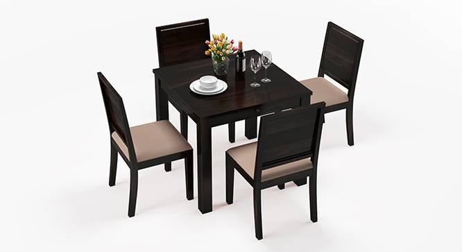 Arabia - Oribi 4 Seater Storage Dining Table Set (Mahogany Finish, Wheat Brown) by Urban Ladder