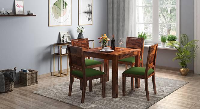 Arabia - Oribi 4 Seater Storage Dining Table Set (Teak Finish, Avocado Green) by Urban Ladder
