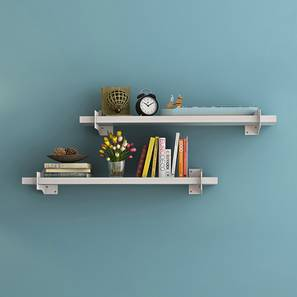 Ryter Shelves - Set Of 2 (White, 2.5' Shelf Width) by Urban Ladder